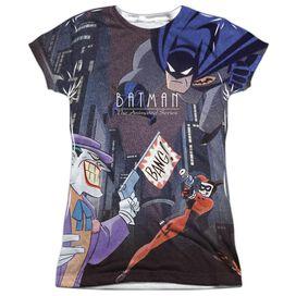 Batman The Animated Series Bounce Short Sleeve Junior Poly Crew T-Shirt