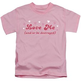 Love Me Short Sleeve Juvenile Pink T-Shirt
