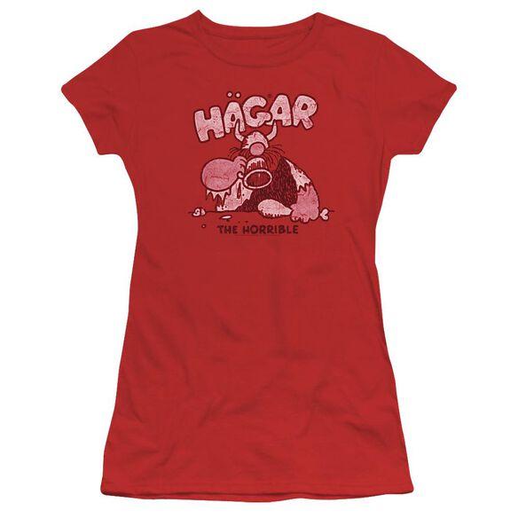Hagar The Horrible Hagar Gulp Short Sleeve Junior Sheer T-Shirt