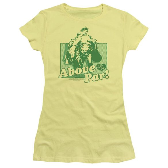 I Love Lucy Above Par Short Sleeve Junior Sheer T-Shirt