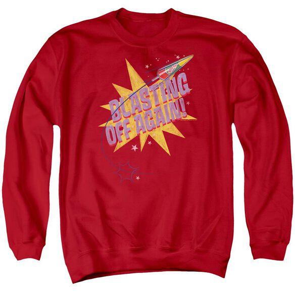 Astro Pop Blast Off Adult Crewneck Sweatshirt