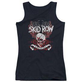 Skid Row Winged Skull Juniors Tank Top