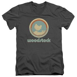 Woodstock Bird Circle Short Sleeve Adult V Neck T-Shirt