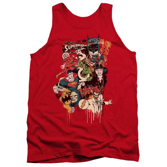 Dc Dripping Characters Adult Tank
