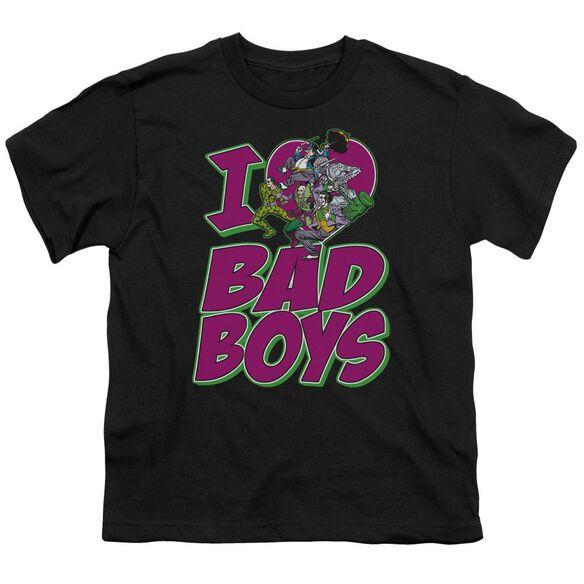 Dc I Heart Bad Boys Short Sleeve Youth T-Shirt