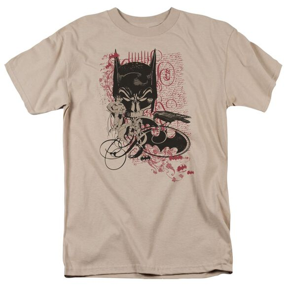 Batman Heroic To The Bone Short Sleeve Adult Sand T-Shirt