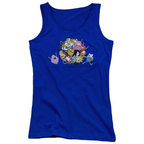 Adventure Time Glob Ball Juniors Tank Top Royal