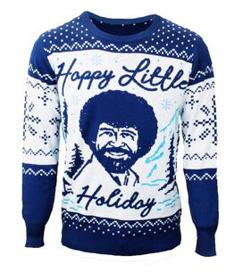 Bob Ross - Happy Little Holiday Christmas Sweater