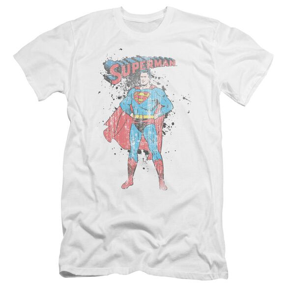 Superman Vintage Ink Splatter Premuim Canvas Adult Slim Fit