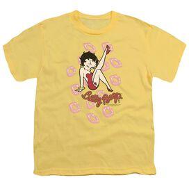 BETTY BOOP KISSES - S/S YOUTH 18/1 - BANANA T-Shirt