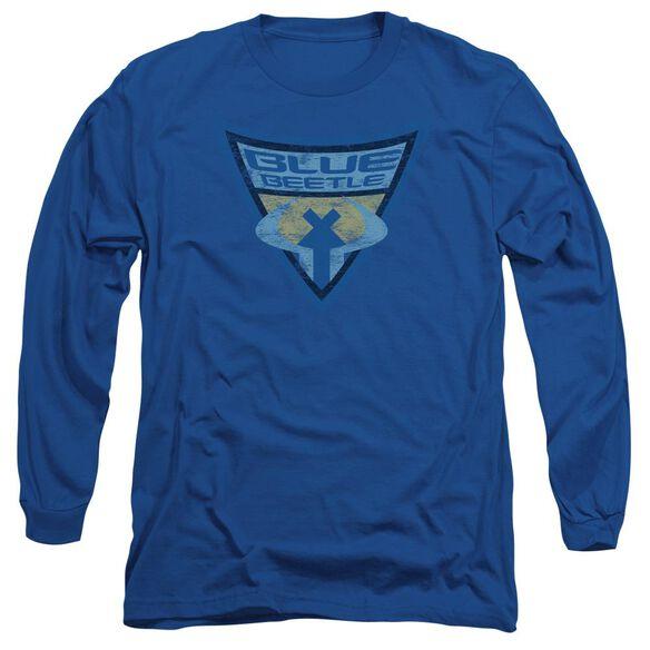Batman Bb Beetle Shield Long Sleeve Adult Royal T-Shirt