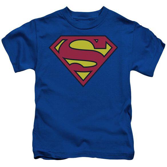 Superman Classic Logo Short Sleeve Juvenile Royal T-Shirt