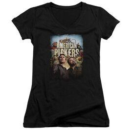 American Pickers Picker Poster Junior V Neck T-Shirt