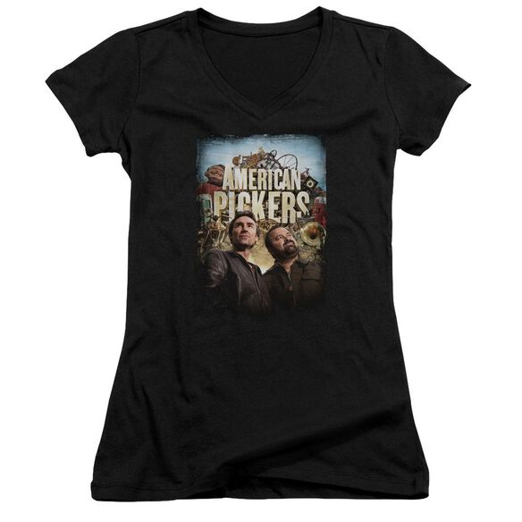 American Pickers Picker Poster Junior V Neck T-Shirt