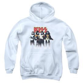 Kiss Throwback Pose-youth Pull-over Hoodie