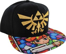 Zelda Crest Sublimated Link Stained Glass Bill Hat