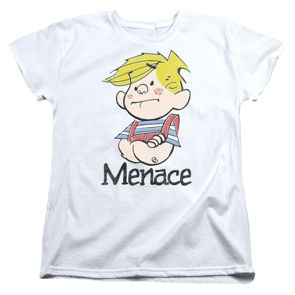 Dennis The Menace Menace Short Sleeve Women's Tee White T-Shirt