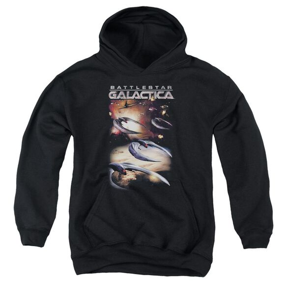 Battlestar Galactica (New) When Cylons Attack Youth Pull Over Hoodie