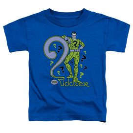 Dc The Riddler Short Sleeve Toddler Tee Royal Blue T-Shirt