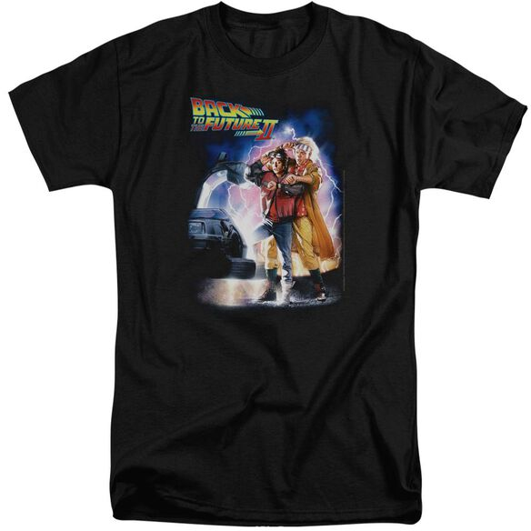Back To The Future Ii Poster Short Sleeve Adult Tall T-Shirt