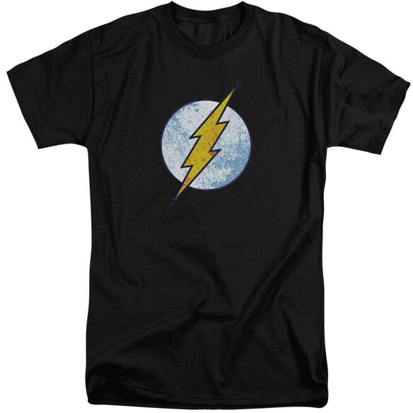 Dc Flash Flash Neon Distress Logo Short Sleeve Adult Tall T-Shirt