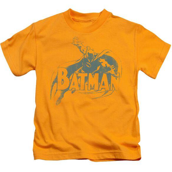 Batman Here's Batman Short Sleeve Juvenile Gold T-Shirt