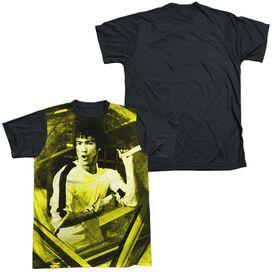 Bruce Lee Stripes Short Sleeve Adult Front Black Back T-Shirt