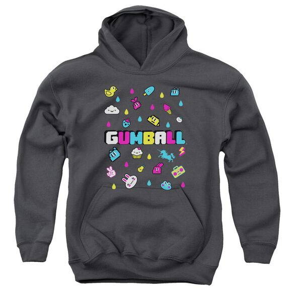 Amazing World Of Gumball Fun Drops Youth Pull Over Hoodie