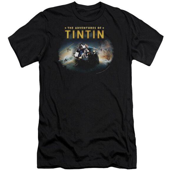 Tintin Journey Short Sleeve Adult T-Shirt