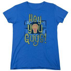 Electric Company Hey You Guys Short Sleeve Womens Tee Royal T-Shirt