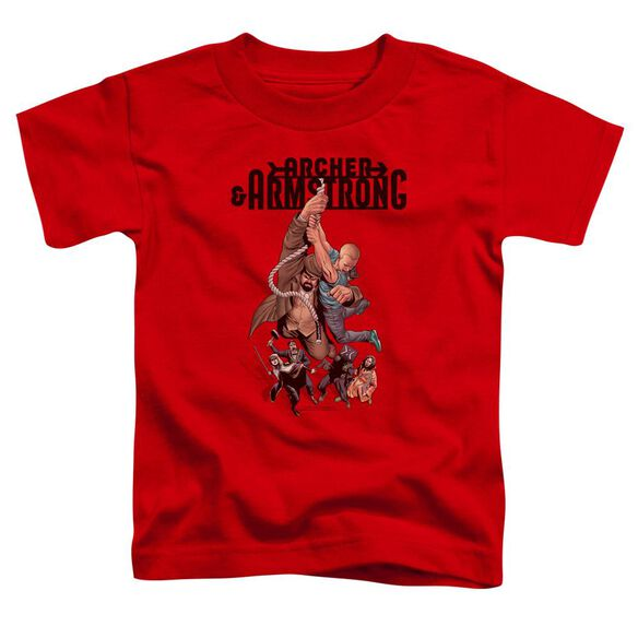 Archer & Armstrong Hang In There Short Sleeve Toddler Tee Red T-Shirt