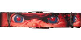 Childs Play Chucky Eyes Splatter Seatbelt Belt