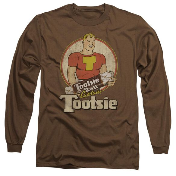 Tootsie Roll Captain Tootsie Long Sleeve Adult T-Shirt