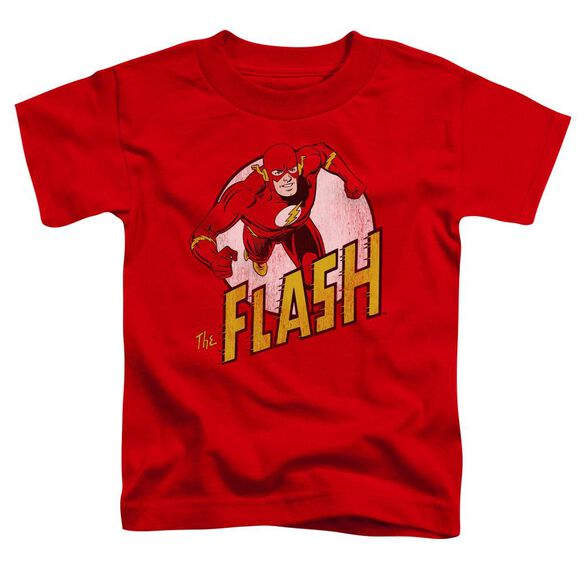 Dc Flash The Flash Short Sleeve Toddler Tee Red Lg T-Shirt