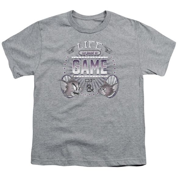 Tom And Jerry Life Is A Game Short Sleeve Youth Athletic T-Shirt