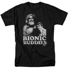 SIX MILLION DOLLAR MAN BIONIC BUDDIES-S/S ADULT 18/1 - BLACK T-Shirt