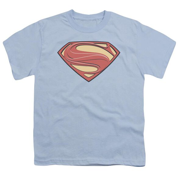 Man Of Steel New Solid Shield Short Sleeve Youth Light T-Shirt