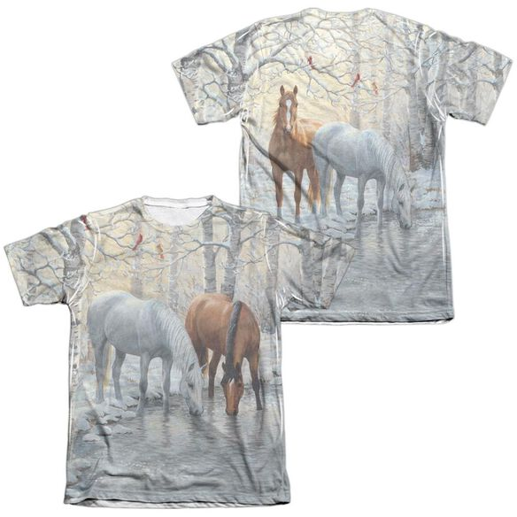 Wild Wings Frosty Sunshine (Front Back Print) Adult Poly Cotton Short Sleeve Tee T-Shirt