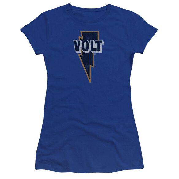 Volt Volt Logo Premium Bella Junior Sheer Jersey Royal