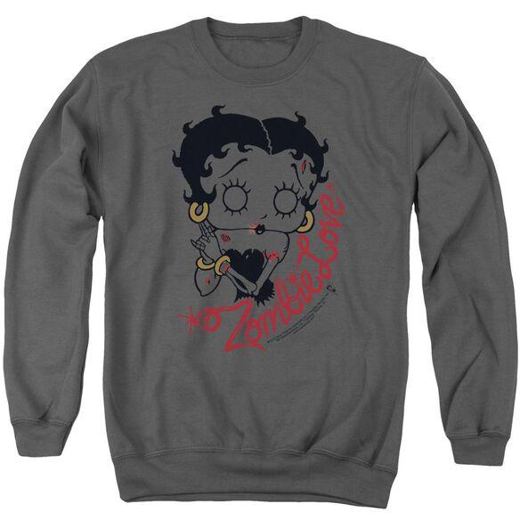 Betty Boop Classic Zombie Adult Crewneck Sweatshirt