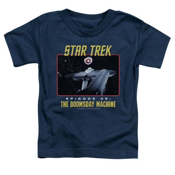St Original The Doomsday Machine Short Sleeve Toddler Tee Navy T-Shirt