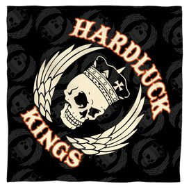 Hardluck Kings Pattern Bandana White