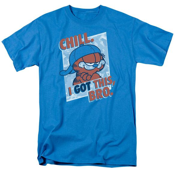 Garfield I Got This Bro Short Sleeve Adult Turquoise T-Shirt