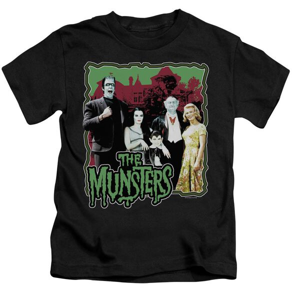 The Munsters Normal Family Short Sleeve Juvenile Black T-Shirt