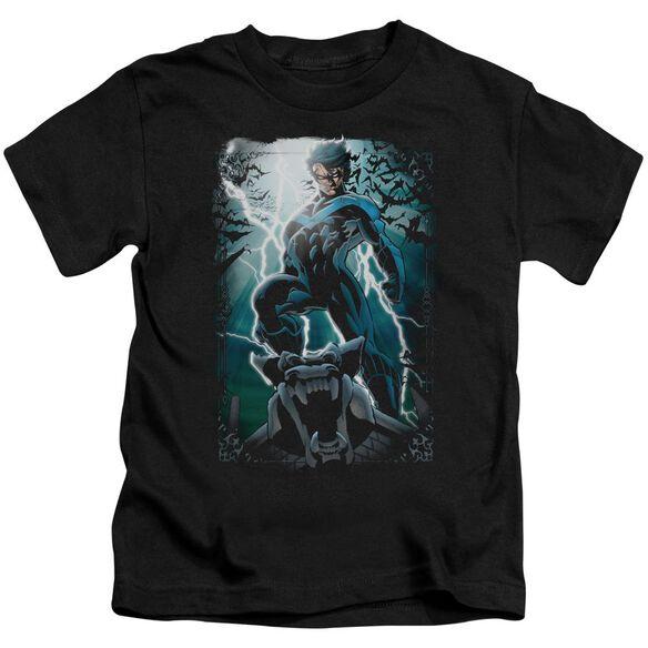 Batman Night Light Short Sleeve Juvenile Black T-Shirt