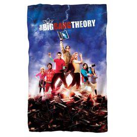 Big Bang Theory Poster Fleece Blanket