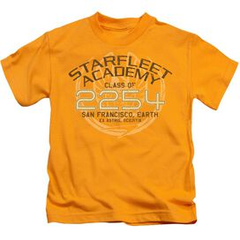 Star Trek Kirk Graduation Short Sleeve Juvenile Gold T-Shirt