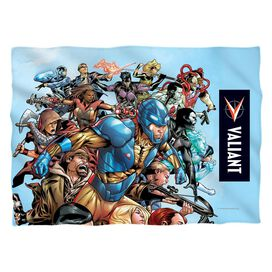 Valiant Group Attack Pillow Case White