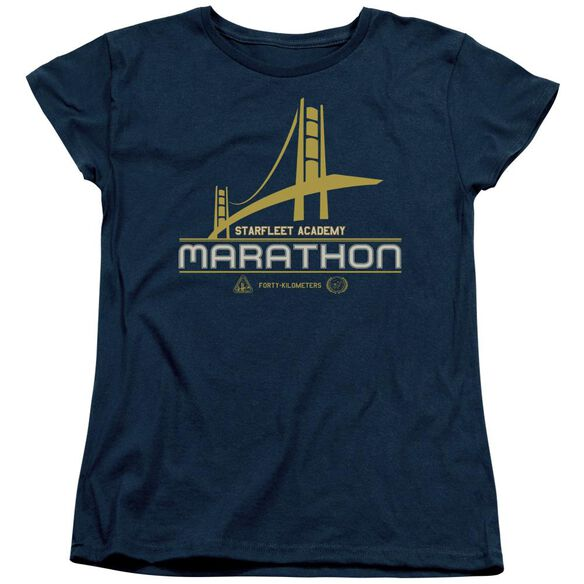 Star Trek Marathon Logo Short Sleeve Womens Tee T-Shirt