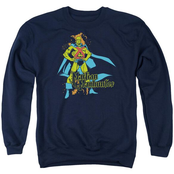 Dc Martian Manhunter Adult Crewneck Sweatshirt